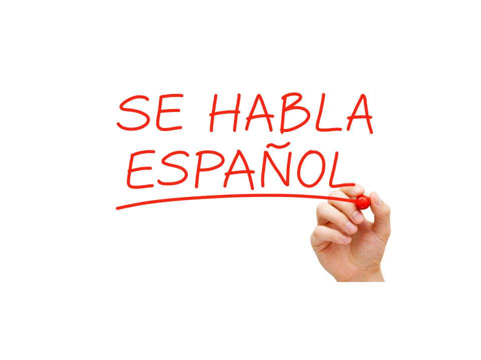 We Speak Spanish Sign
